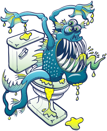 Strange Noises Toilet Monster